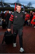 16 November 2019; Peter O'Mahony of Munster arrives prior to the Heineken Champions Cup Pool 4 Round 1 match between Ospreys and Munster at Liberty Stadium in Swansea, Wales. Photo by Seb Daly/Sportsfile
