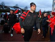 16 November 2019; Tadhg Beirne of Munster arrives prior to the Heineken Champions Cup Pool 4 Round 1 match between Ospreys and Munster at Liberty Stadium in Swansea, Wales. Photo by Seb Daly/Sportsfile