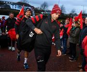 16 November 2019; Conor Murray of Munster arrives prior to the Heineken Champions Cup Pool 4 Round 1 match between Ospreys and Munster at Liberty Stadium in Swansea, Wales. Photo by Seb Daly/Sportsfile