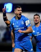 16 November 2019; Jonathan Sexton of Leinster celebrates after scoring his side's fourth try during the Heineken Champions Cup Pool 1 Round 1 match between Leinster and Benetton at the RDS Arena in Dublin. Photo by Sam Barnes/Sportsfile