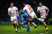 16 November 2019; Max Deegan of Leinster is tackled by Marco Lazzaroni of Benetton during the Heineken Champions Cup Pool 1 Round 1 match between Leinster and Benetton at the RDS Arena in Dublin. Photo by Ramsey Cardy/Sportsfile