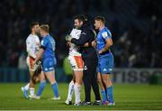 16 November 2019; Fergus McFadden of Leinster and Ian Keatley of Benetton following the Heineken Champions Cup Pool 1 Round 1 match between Leinster and Benetton at the RDS Arena in Dublin. Photo by Ramsey Cardy/Sportsfile