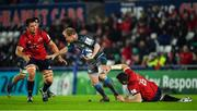 16 November 2019; Luke Price of Ospreys is tackled by Jean Kleyn, left, and Peter O'Mahony of Munster during the Heineken Champions Cup Pool 4 Round 1 match between Ospreys and Munster at Liberty Stadium in Swansea, Wales. Photo by Seb Daly/Sportsfile