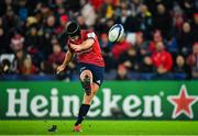 16 November 2019; Tyler Bleyendaal of Munster kicks a conversion during the Heineken Champions Cup Pool 4 Round 1 match between Ospreys and Munster at Liberty Stadium in Swansea, Wales. Photo by Seb Daly/Sportsfile
