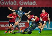 16 November 2019; Mike Haley of Munster is tackled by Scott Otten of Ospreys during the Heineken Champions Cup Pool 4 Round 1 match between Ospreys and Munster at Liberty Stadium in Swansea, Wales. Photo by Seb Daly/Sportsfile