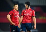 16 November 2019; Andrew Conway, left, and Tyler Bleyendaal of Munster during the Heineken Champions Cup Pool 4 Round 1 match between Ospreys and Munster at Liberty Stadium in Swansea, Wales. Photo by Seb Daly/Sportsfile