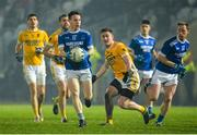 16 November 2019; Eunan Doherty of Naomh Conaill in action against Conor Doyle of Clontibret during the AIB Ulster GAA Football Senior Club Championship Semi-Final match between Clontibret and Naomh Conaill at Healy Park in Omagh. Photo by Oliver McVeigh/Sportsfile