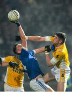 16 November 2019; Charles McGuinness of Naomh Conaill in action against Francis Hughes of Clontibret during the AIB Ulster GAA Football Senior Club Championship Semi-Final match between Clontibret and Naomh Conaill at Healy Park in Omagh. Photo by Oliver McVeigh/Sportsfile