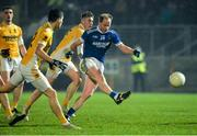 16 November 2019; Anthony Thompson of Naomh Conaill with a shot on goal during the AIB Ulster GAA Football Senior Club Championship Semi-Final match between Clontibret and Naomh Conaill at Healy Park in Omagh. Photo by Oliver McVeigh/Sportsfile