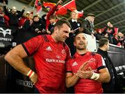 16 November 2019; Tadhg Beirne, left, and Alby Mathewson of Munster following the Heineken Champions Cup Pool 4 Round 1 match between Ospreys and Munster at Liberty Stadium in Swansea, Wales. Photo by Seb Daly/Sportsfile