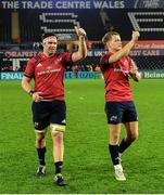 16 November 2019; Billy Holland, left, and Mike Haley of Munster following the Heineken Champions Cup Pool 4 Round 1 match between Ospreys and Munster at Liberty Stadium in Swansea, Wales. Photo by Seb Daly/Sportsfile