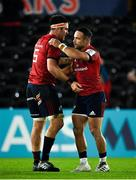 16 November 2019; Billy Holland, left, and Alby Mathewson of Munster congratulate each other following the Heineken Champions Cup Pool 4 Round 1 match between Ospreys and Munster at Liberty Stadium in Swansea, Wales. Photo by Seb Daly/Sportsfile