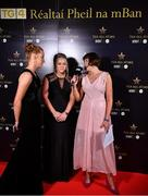 16 November 2019; Gráinne McElwain interviews Tipperary footballer Aishling Moloney, left, and Meath footballer Monica McGuirk, centre, on facebook live at the TG4 All-Ireland Ladies Football All Stars Awards banquet, in association with Lidl at the Citywest Hotel in Saggart, Dublin. Photo by Brendan Moran/Sportsfile