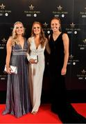 16 November 2019; Aisling McCarthy, left, Róisín McCarthy, and Aishling Moloney, right, upon arrival at the TG4 All-Ireland Ladies Football All Stars Awards banquet, in association with Lidl at the Citywest Hotel in Saggart, Dublin. Photo by Brendan Moran/Sportsfile