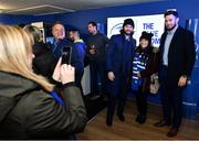 16 November 2019; Leinster players Barry Daly and Josh Murphy with supporters in The Blue Room ahead of the Heineken Champions Cup Pool 1 Round 1 match between Leinster and Benetton at the RDS Arena in Dublin. Photo by Sam Barnes/Sportsfile