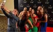 16 November 2019; Sinéad Burke takes a selfie with her Galway team-mates at the TG4 All-Ireland Ladies Football All Stars Awards banquet, in association with Lidl at the Citywest Hotel in Saggart, Dublin. Photo by Brendan Moran/Sportsfile
