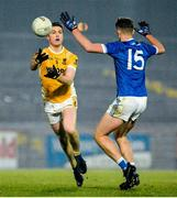 16 November 2019; David Savage of Clontibret in action against Kieran Gallagher of Naomh Conaill during the AIB Ulster GAA Football Senior Club Championship Semi-Final match between Clontibret and Naomh Conaill at Healy Park in Omagh. Photo by Oliver McVeigh/Sportsfile