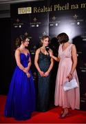 16 November 2019; Gráinne McElwain interviews Cork footballer Eimear Scally, left, and Mayo footballer Sinéad Cafferky, centre, on facebook live at the TG4 All-Ireland Ladies Football All Stars Awards banquet, in association with Lidl at the Citywest Hotel in Saggart, Dublin. Photo by Brendan Moran/Sportsfile