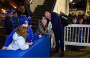 16 November 2019; Devin Toner of Leinster during a supporter meet and greet following the Heineken Champions Cup Pool 1 Round 1 match between Leinster and Benetton at the RDS Arena in Dublin. Photo by Sam Barnes/Sportsfile