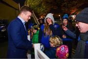 16 November 2019; Josh van der Flier of Leinster during a supporter meet and greet following the Heineken Champions Cup Pool 1 Round 1 match between Leinster and Benetton at the RDS Arena in Dublin. Photo by Sam Barnes/Sportsfile