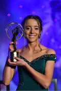 16 November 2019; Cork footballer Eimear O'Donovan with her Munster Young Player of the Year award during the TG4 Ladies Football All-Star Awards banquet, in association with Lidl, at the CityWest Hotel in Saggart, Co Dublin. Photo by Brendan Moran/Sportsfile