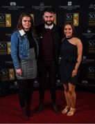 16 November 2019; Rebecca Horgan, left, Brian Geaney and Aoife Horgan arriving to the Só Hotels WNL Awards at Castle Oaks Hotel in Limerick. Photo by Eóin Noonan/Sportsfile