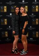 16 November 2019; Emily Whelan, left, and Isibeal Atkinson arriving to the Só Hotels WNL Awards at Castle Oaks Hotel in Limerick. Photo by Eóin Noonan/Sportsfile