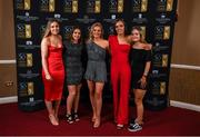 16 November 2019; Leah Doyle, Emily Whelan, Kayla Brady, Rebecca Cooke and Isibeal Atkinson arriving to the Só Hotels WNL Awards at Castle Oaks Hotel in Limerick. Photo by Eóin Noonan/Sportsfile