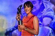 16 November 2019; Siobhan McGrath of Dublin who was presented with the TG4 Senior Player's Player of the Year award during the TG4 All-Ireland Ladies Football All Stars Awards banquet, in association with Lidl, at the Citywest Hotel in Saggart, Dublin. Photo by Brendan Moran/Sportsfile