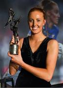 16 November 2019; Aisling Moloney of Tipperary with her TG4 Intermediate Players' Player of the Yeard award during the TG4 All-Ireland Ladies Football All Stars Awards banquet, in association with Lidl, at the Citywest Hotel in Saggart, Dublin. Photo by Brendan Moran/Sportsfile