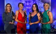 16 November 2019; Galway footballers, from left, Sinead Burke, Louise Ward, Nicola Ward and Tracey Leonard with their TG4 All Star awards during the TG4 All-Ireland Ladies Football All Stars Awards banquet, in association with Lidl, at the Citywest Hotel in Saggart, Dublin. Photo by Brendan Moran/Sportsfile