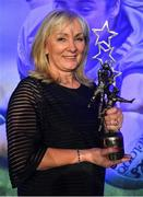 16 November 2019; Joan McEvoy, who received the award on behalf of her daughter Niamh McEvoy of Dublin, during the TG4 All-Ireland Ladies Football All Stars Awards banquet, in association with Lidl, at the Citywest Hotel in Saggart, Dublin. Photo by Brendan Moran/Sportsfile