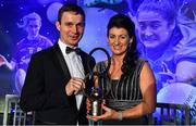 16 November 2019; Christina Heffernan of Mayo with her husband Ray Connelly and her Hall of Fame award during the TG4 All-Ireland Ladies Football All Stars Awards banquet, in association with Lidl, at the Citywest Hotel in Saggart, Dublin. Photo by Brendan Moran/Sportsfile