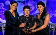 16 November 2019; Christina Heffernan of Mayo with her mother Ann and sister Marcella, left, and her Hall of Fame award during the TG4 All-Ireland Ladies Football All Stars Awards banquet, in association with Lidl, at the Citywest Hotel in Saggart, Dublin. Photo by Brendan Moran/Sportsfile