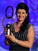 16 November 2019; Christina Heffernan of Mayo with her Hall of Fame award during the TG4 All-Ireland Ladies Football All Stars Awards banquet, in association with Lidl, at the Citywest Hotel in Saggart, Dublin. Photo by Brendan Moran/Sportsfile