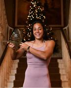 16 November 2019; Rianna Jarrett of Wexford Youths with her Player of the Year award during the Só Hotels WNL Awards at Castle Oaks Hotel in Limerick. Photo by Eóin Noonan/Sportsfile