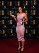 16 November 2019; Rianna Jarrett of Wexford Youths with her Player of the Year and top goal scorer awards during the Só Hotels WNL Awards at Castle Oaks Hotel in Limerick. Photo by Eóin Noonan/Sportsfile