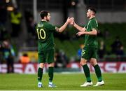 14 November 2019; Robbie Brady, left, and Troy Parrott of Republic of Ireland during the International Friendly match between Republic of Ireland and New Zealand at the Aviva Stadium in Dublin. Photo by Stephen McCarthy/Sportsfile