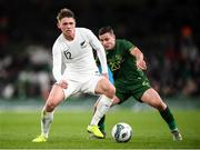 14 November 2019; Callum McCowatt of New Zealand and Josh Cullen of Republic of Ireland during the International Friendly match between Republic of Ireland and New Zealand at the Aviva Stadium in Dublin. Photo by Stephen McCarthy/Sportsfile