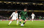 14 November 2019; Sean Maguire of Republic of Ireland and Joe Bell of New Zealand during the International Friendly match between Republic of Ireland and New Zealand at the Aviva Stadium in Dublin. Photo by Stephen McCarthy/Sportsfile