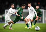 14 November 2019; Sean Maguire of Republic of Ireland and Storm Roux of New Zealand during the International Friendly match between Republic of Ireland and New Zealand at the Aviva Stadium in Dublin. Photo by Stephen McCarthy/Sportsfile