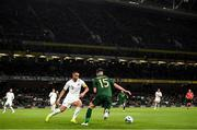 14 November 2019; Troy Parrott of Republic of Ireland in action against Winston Reid of New Zealand during the International Friendly match between Republic of Ireland and New Zealand at the Aviva Stadium in Dublin. Photo by Stephen McCarthy/Sportsfile