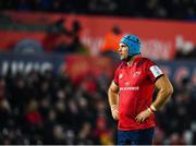 16 November 2019; Tadhg Beirne of Munster during the Heineken Champions Cup Pool 4 Round 1 match between Ospreys and Munster at Liberty Stadium in Swansea, Wales. Photo by Seb Daly/Sportsfile