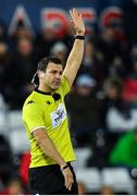 16 November 2019; Referee Karl Dickson during the Heineken Champions Cup Pool 4 Round 1 match between Ospreys and Munster at Liberty Stadium in Swansea, Wales. Photo by Seb Daly/Sportsfile