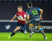 16 November 2019; Keith Earls of Munster in action against James Hook of Ospreys during the Heineken Champions Cup Pool 4 Round 1 match between Ospreys and Munster at Liberty Stadium in Swansea, Wales. Photo by Seb Daly/Sportsfile