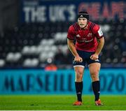 16 November 2019; Tyler Bleyendaal of Munster during the Heineken Champions Cup Pool 4 Round 1 match between Ospreys and Munster at Liberty Stadium in Swansea, Wales. Photo by Seb Daly/Sportsfile