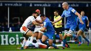 16 November 2019; Rónan Kelleher of Leinster in action against Angelo Esposito, left, and Dean Budd of Benetton during the Heineken Champions Cup Pool 1 Round 1 match between Leinster and Benetton at the RDS Arena in Dublin. Photo by Sam Barnes/Sportsfile
