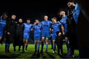 16 November 2019; The Leinster team huddle following the Heineken Champions Cup Pool 1 Round 1 match between Leinster and Benetton at the RDS Arena in Dublin. Photo by Ramsey Cardy/Sportsfile