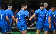 16 November 2019; Garry Ringrose of Leinster celebrates after scoring his side's second try with Andrew Porter during the Heineken Champions Cup Pool 1 Round 1 match between Leinster and Benetton at the RDS Arena in Dublin. Photo by Sam Barnes/Sportsfile