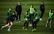 17 November 2019; Alan Judge, centre, during a Republic of Ireland training session at the FAI National Training Centre in Abbotstown, Dublin. Photo by Stephen McCarthy/Sportsfile